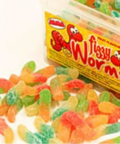 Fizzy Worms Sweets Tub