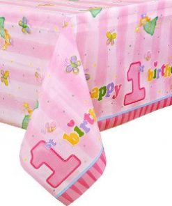 Fun At One 1st Party Girl Plastic Tablecover