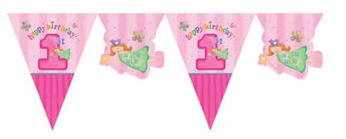 Fun At One 1st Party Girl Plastic Bunting