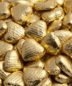 Gold Foil Chocolate Hearts - Bulk Pack