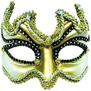 Gold Masquerade Mask (half face)