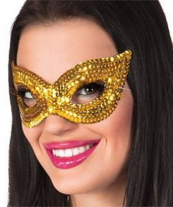 Gold Sequin Eye Masquerade Mask