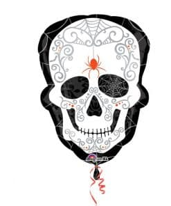 Halloween Day of the Dead Black & Bone Balloon