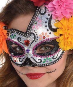 Halloween Day of the Dead Sugar Skull Mask