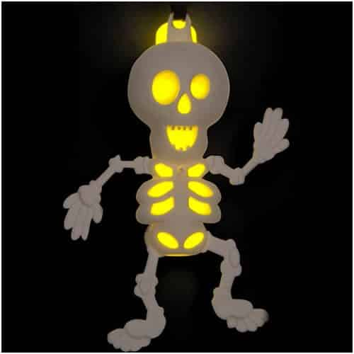 Halloween Glow Skeleton Necklace