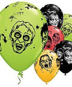 Halloween Zombie Balloons Printed Latex Balloons