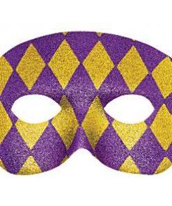 Harlequin Glitter Mask