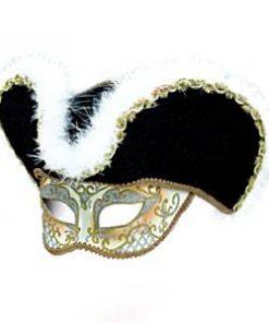 Highwayman Venetian Mask & Hat