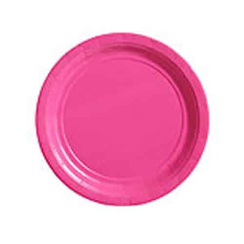 Hot Pink Party Paper Plates