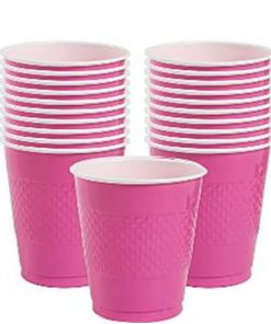 Hot Pink Party Plastic Cups