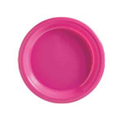 Hot Pink Party Plastic Dessert Plates
