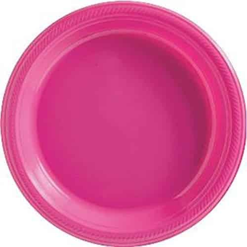 Hot Pink Party Plastic Dinner Plates
