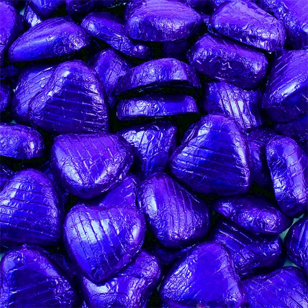 Indigo Foil Chocolate Hearts - Bulk Pack