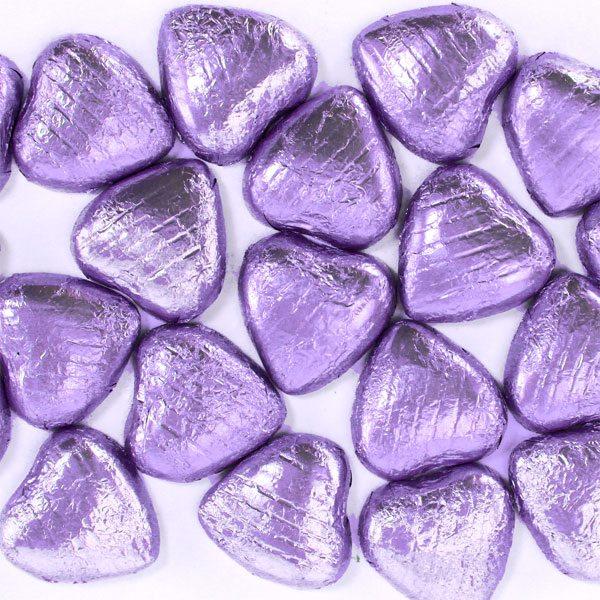 Lilac Chocolate Hearts