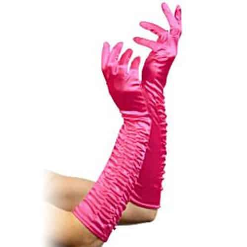 Long Fuchsia Temptress Gloves