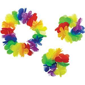 Luau Rainbow Hawaiian Lei Kit