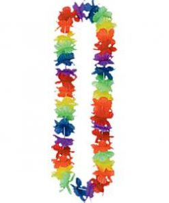 Luau Rainbow Hawaiian Lei Kit