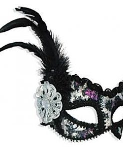 Masks Silver and Purple Sequin Mask