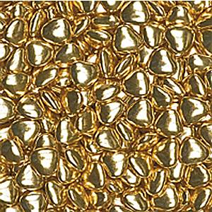 Metallic Gold Chocolate Hearts
