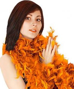 Orange Deluxe Feather Boa