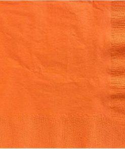 Orange Party Paper Dinner Napkins