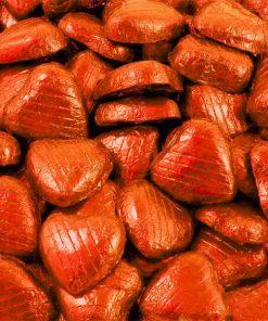 Orange Foil Chocolate Hearts - Bulk Pack
