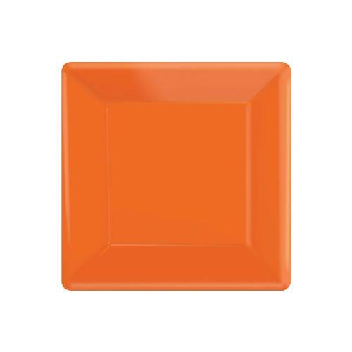 Orange Party Square Paper Plates