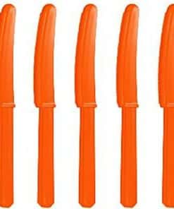Orange Party Plastic Knives