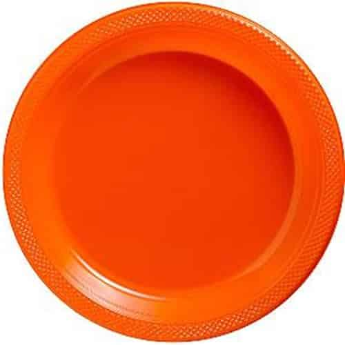 Orange Serving Plates