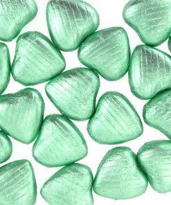 Pale Green Chocolate Hearts