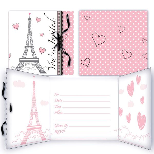 Party in Paris Party Invitations