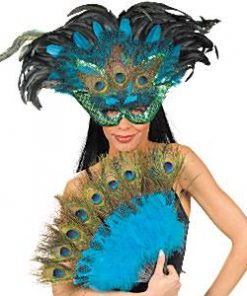 Peacock Feather Masquerade Mask Kit
