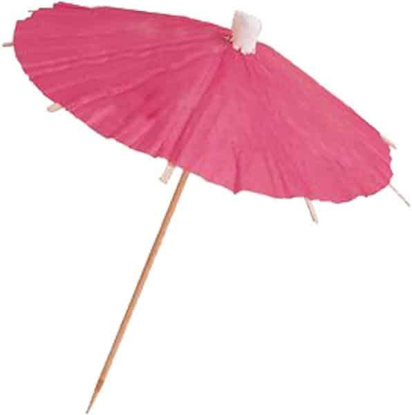 pink cocktail umbrella picks pk 12