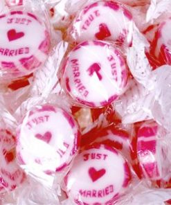 Pink 'Just Married' Rock Sweets