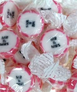 Pink 'Mr & Mrs' Rock Sweets