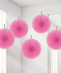 Pink Paper Fan Decoration