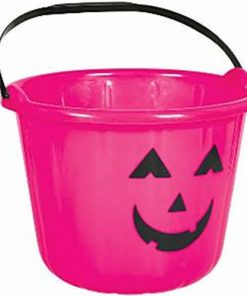 Halloween Pink Pumpkin Bucket