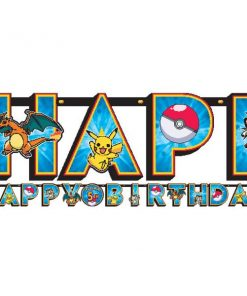 Pokemon Party Add an Age Happy Birthday Letter Banner
