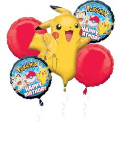 Pokemon Party Balloon Foil Bouquet