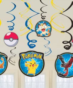 Pokemon Party Hanging Swirls Decorations