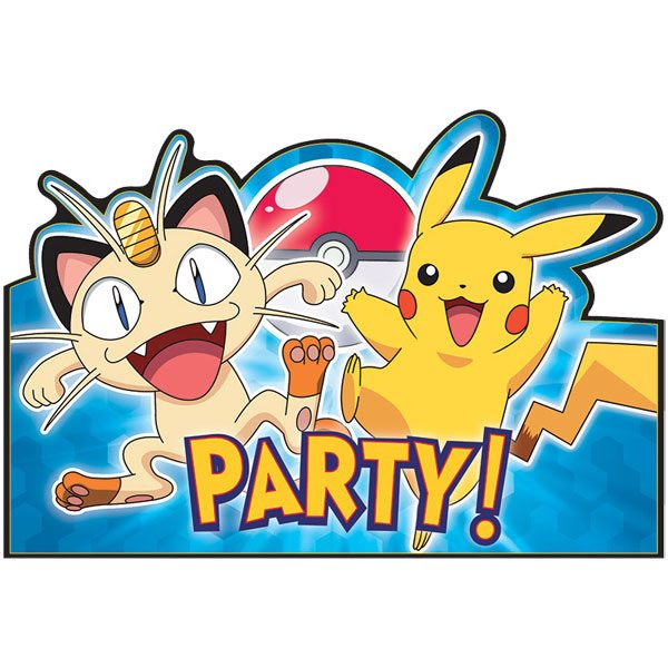 Pokemon Party Invites