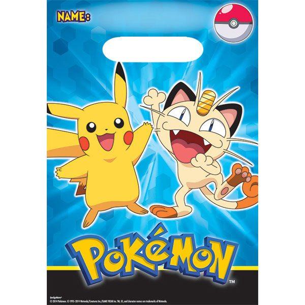 Pokemon Party Plastic Loot Bags