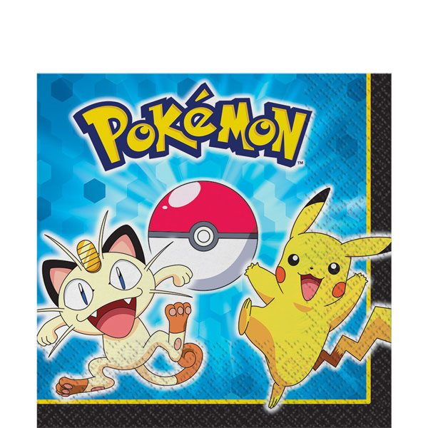 Pokemon Party Paper Napkins