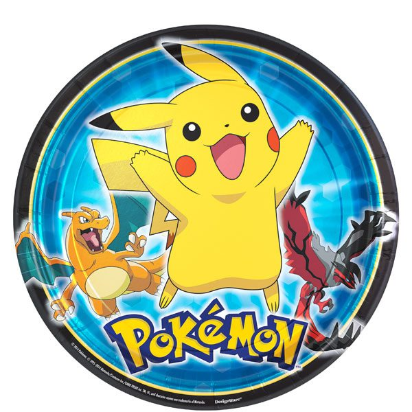 Pokemon Party Paper Plates