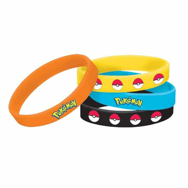 Pokemon Party Bag Fillers - Rubber Bracelets