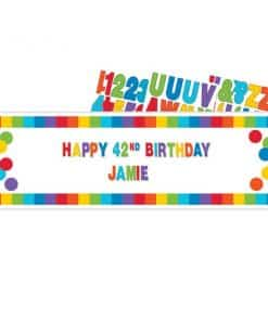 Primary Colour Giant Personalisable Banner