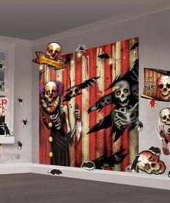 Halloween Scary Clown Halloween Scene Setter