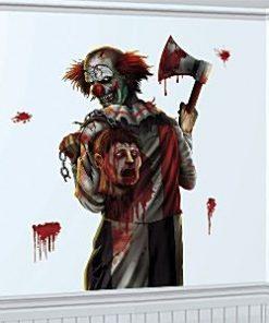 Scary Clown Halloween Wall Grabber -