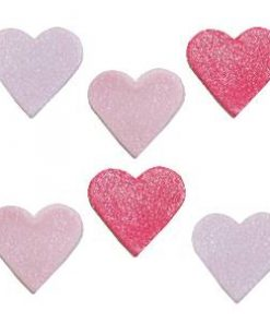 Shimmer Heart Sugar Cake Toppers