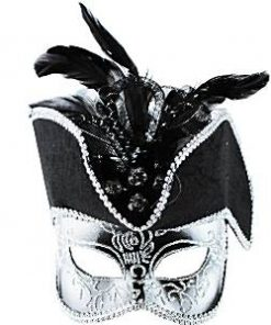 Silver Pirate Masquerade Mask